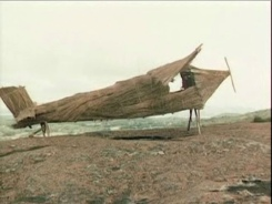 bamboo and straw plane built as an idol by the John Frum Movement