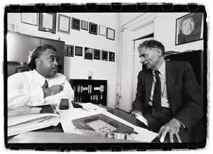 New York's Rev Al Sharpton (with Ralph Nader) was quick to condemn Ferguson's actions