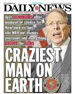 Even New Yorkers, used to every form of offensive behavior, are shocked and sickened by LaPierre