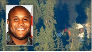 Chris Dorner likely died in this structure fire. The manhunt is announced suspended as of 4:14 pm PST