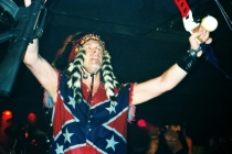 Ted Nugent proving he's no coward by volunteering to fight on the losing side of a war that ended 150 years ago