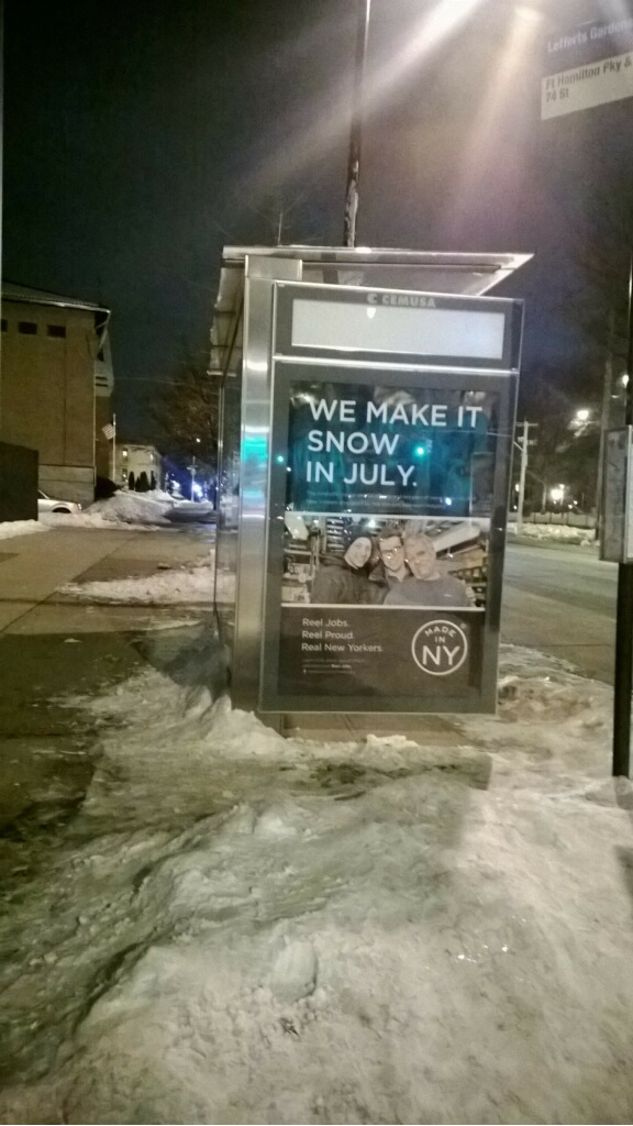 The Most Annoying Least Ironic Bus Shelter Ad in All of New York City