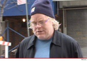 The Late Philip Seymour Hoffman looking every bit the junkie