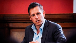 Peter Thiel at the Oxford Union, Britain - 30 Apr 2015